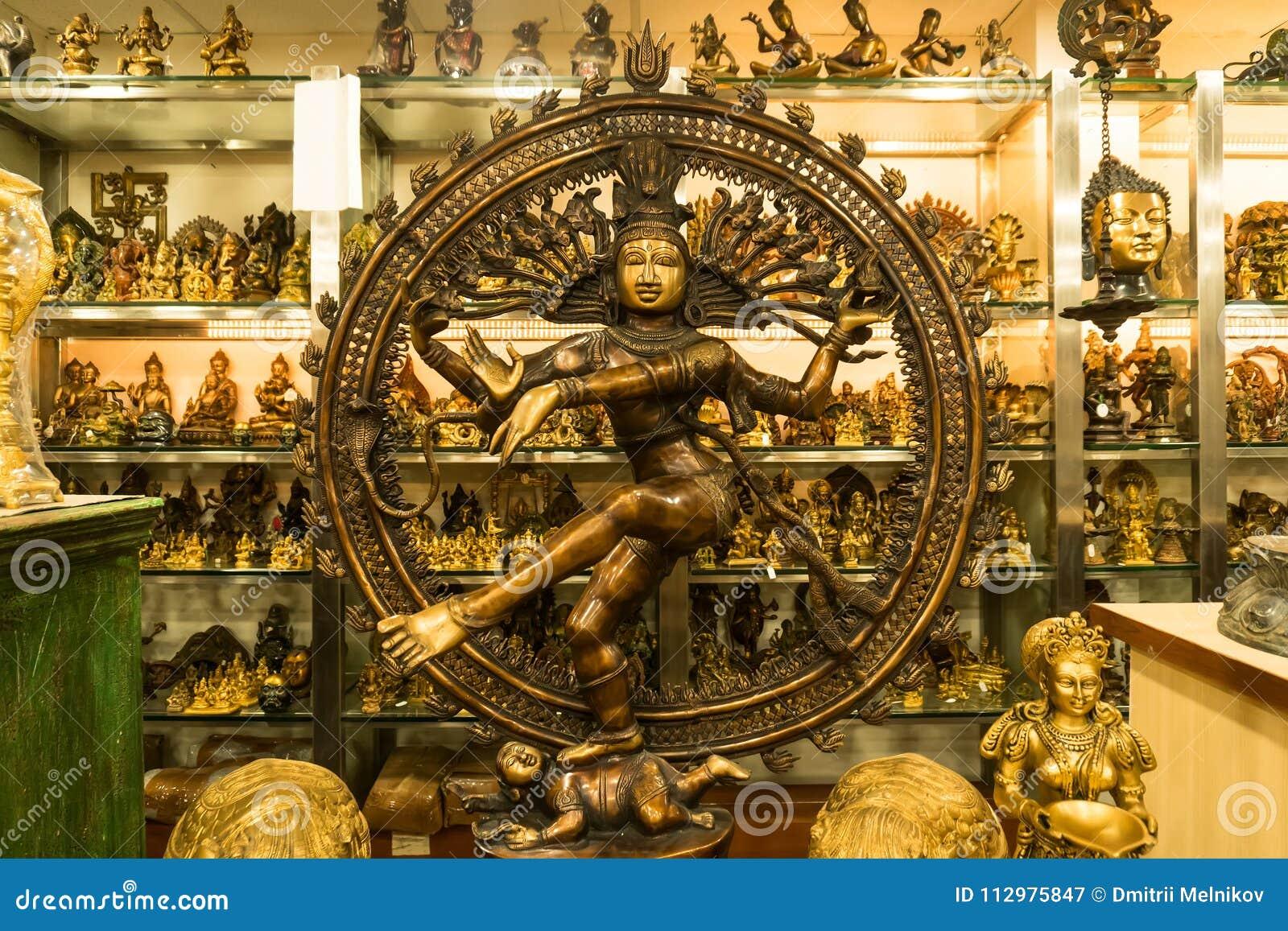 Bronze statue of indian goddess Shiva Nataraja - Lord of Dance