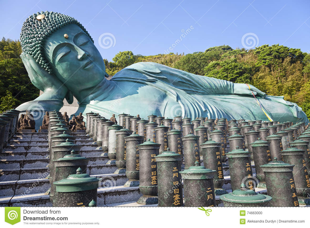 The Bronze Statue Of Reclining Buddha,Fukuoka, Japan ...