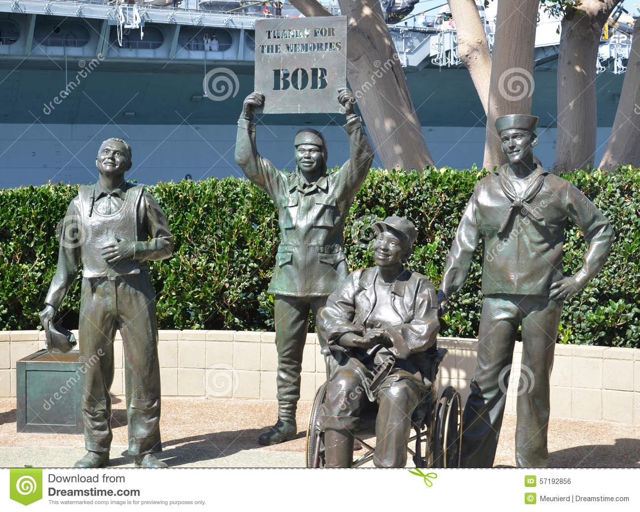 bronze statues of a national salute to bob hope editorial