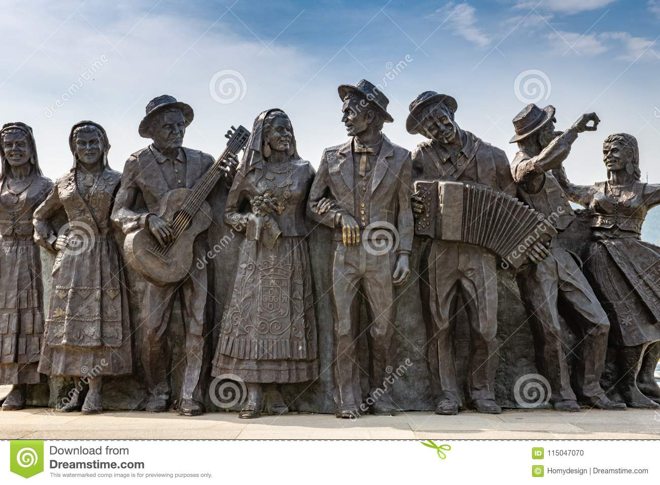 Bronze Statues In Ponte De Lima Editorial Image - Image of city ...