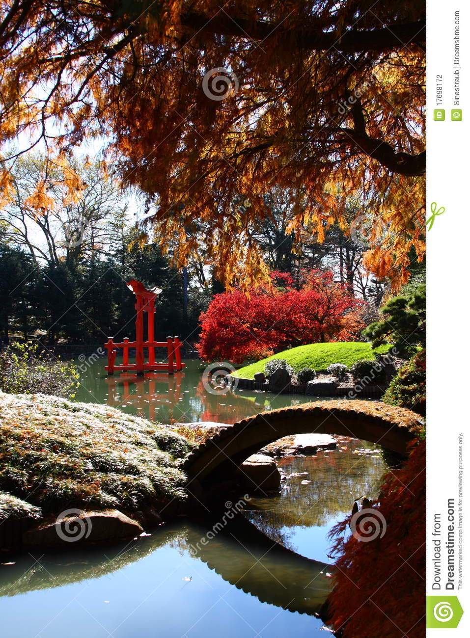 Brooklyn Botanical Gardens Indian Summer. Royalty Free Stock Photo