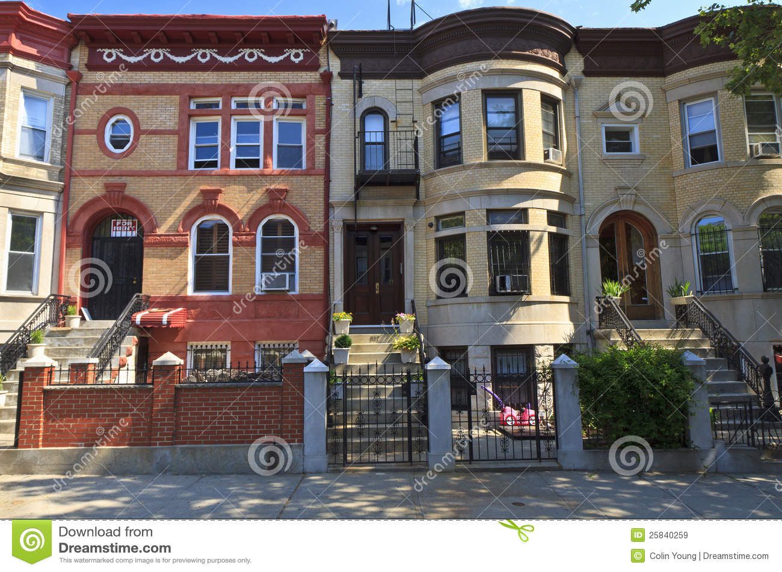 Brooklyn brick apartments royalty free stock images for Buy apartment brooklyn ny
