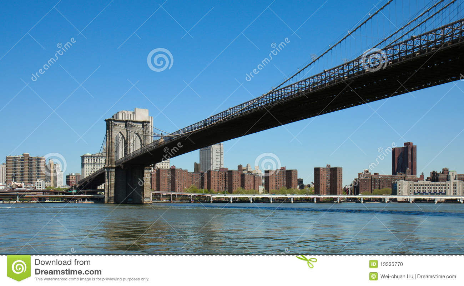 Brooklyn bridżowy miasto nowy York