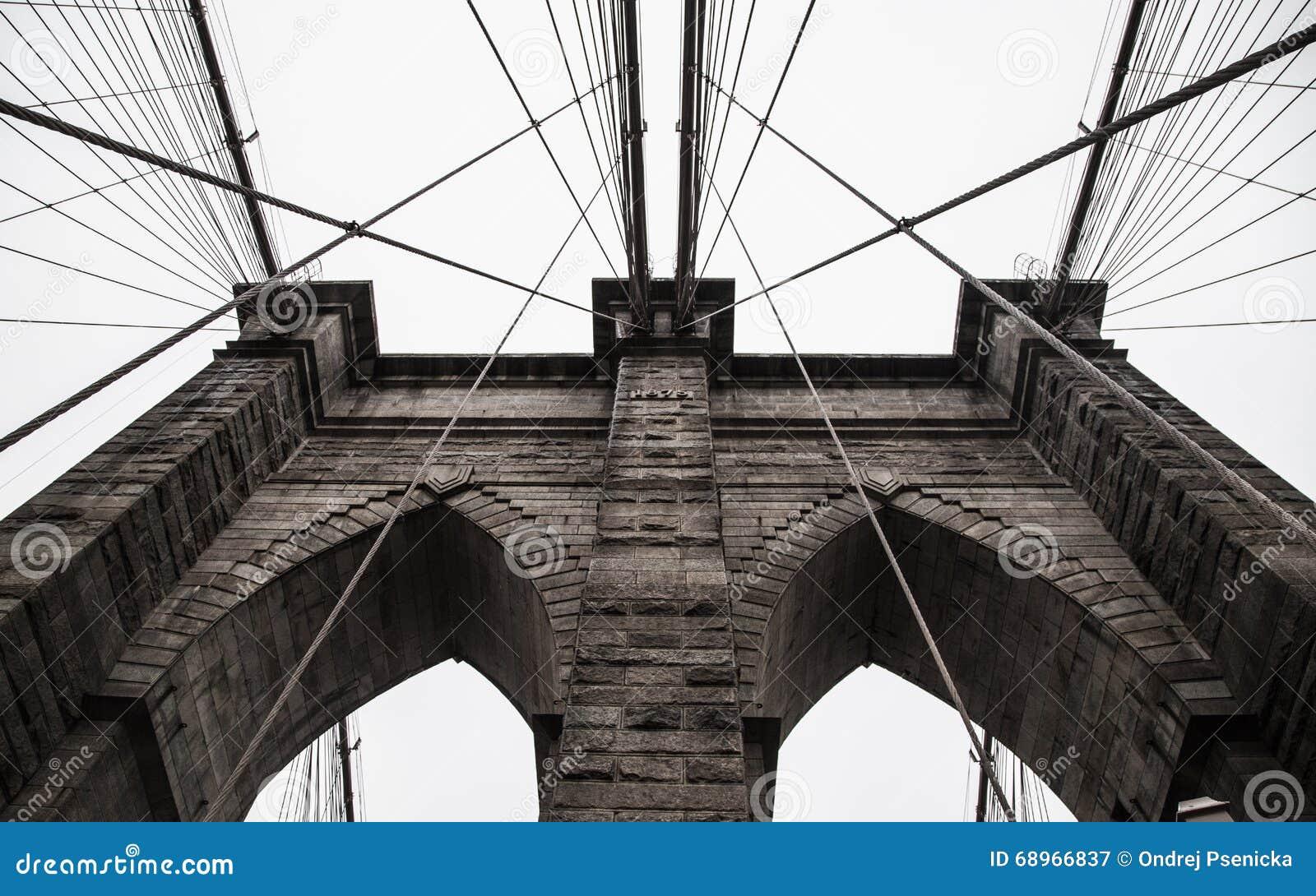 Brooklyn Bridge In New York City Stock Image Image Of Sights Brooklyn 68966837