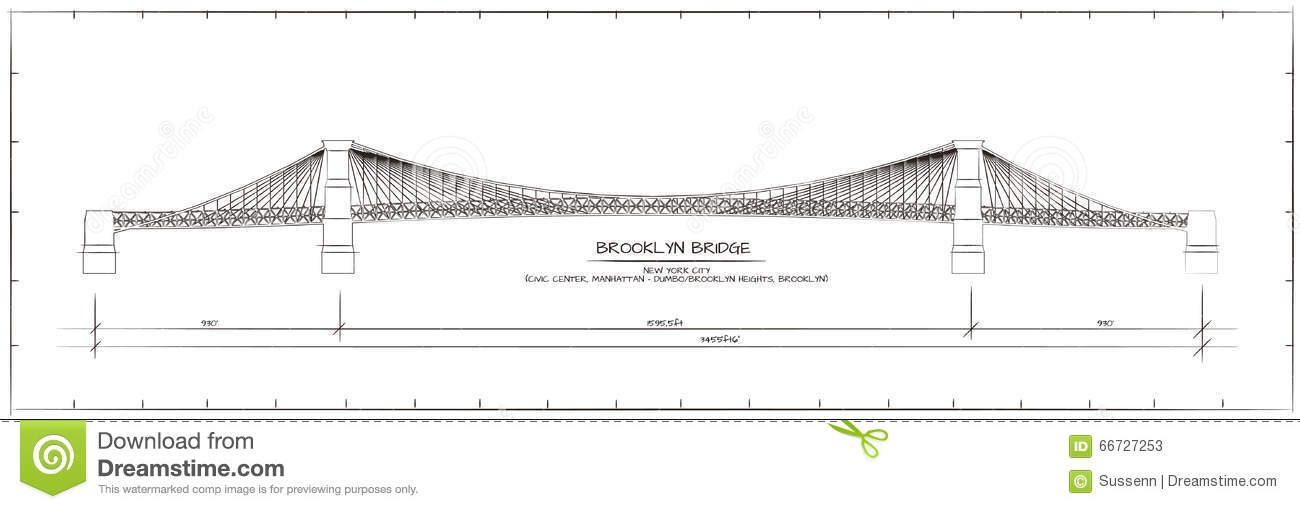 architectural drawings of bridges. Architectural Technical Drawing. Brooklyn Bridge, New York Architectural Drawings Of Bridges R