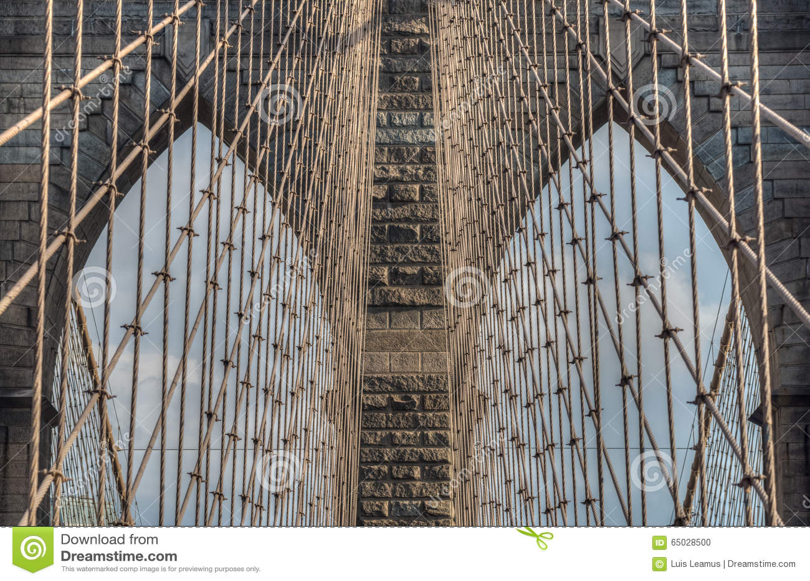 Brooklyn bro - abstrakt begreppdetaljer - New York City