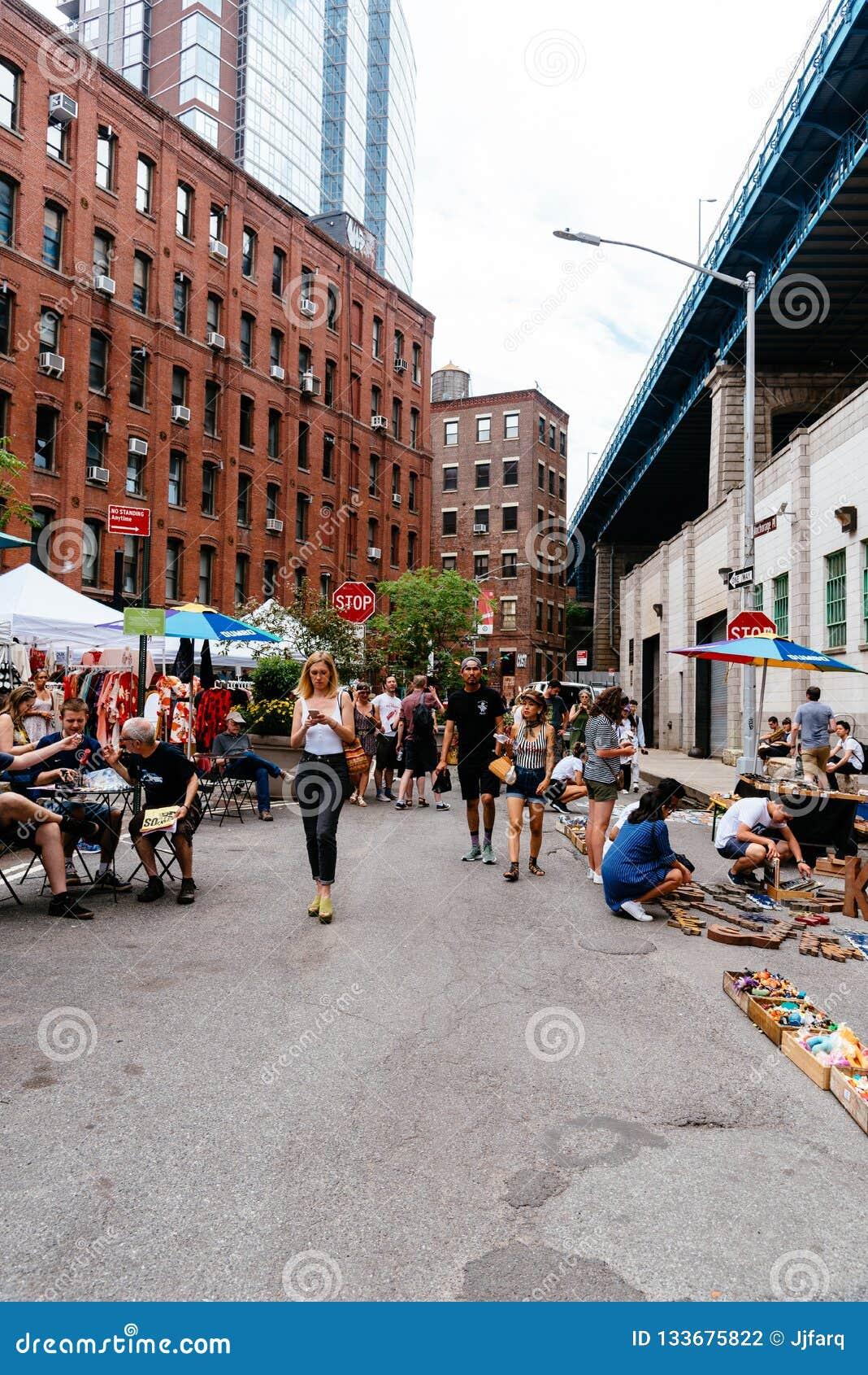 Brooklyn Flea Market In DUMBO In New York Editorial