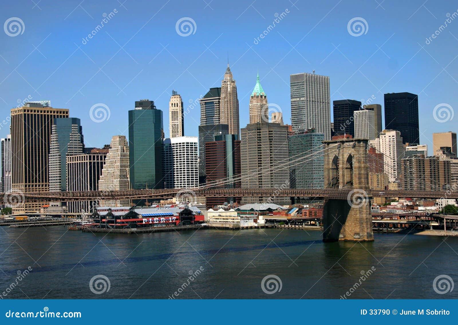 Download Brooklyn most zdjęcie stock. Obraz złożonej z rzeka, wschód - 33790