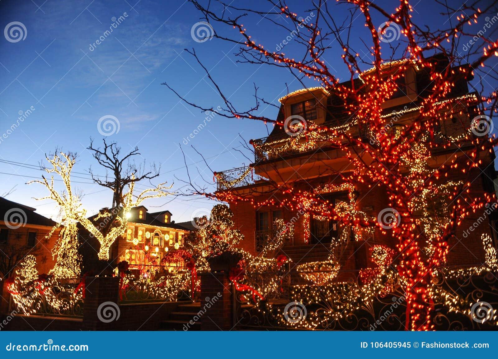 Dyker Heights Christmas Lights.Brooklyn New York December 20 2017 Dyker Heights