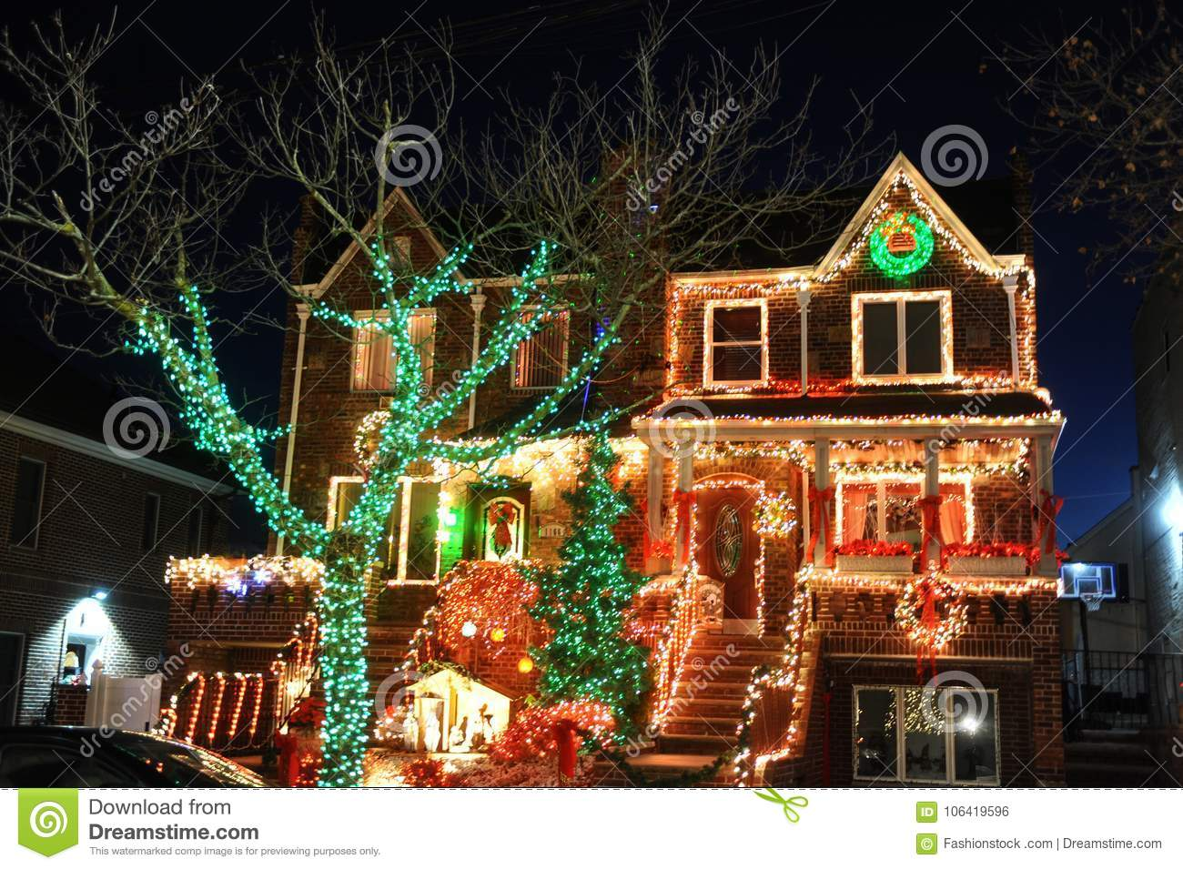 download brooklyn new york december 20 2017 dyker heights christmas lights are