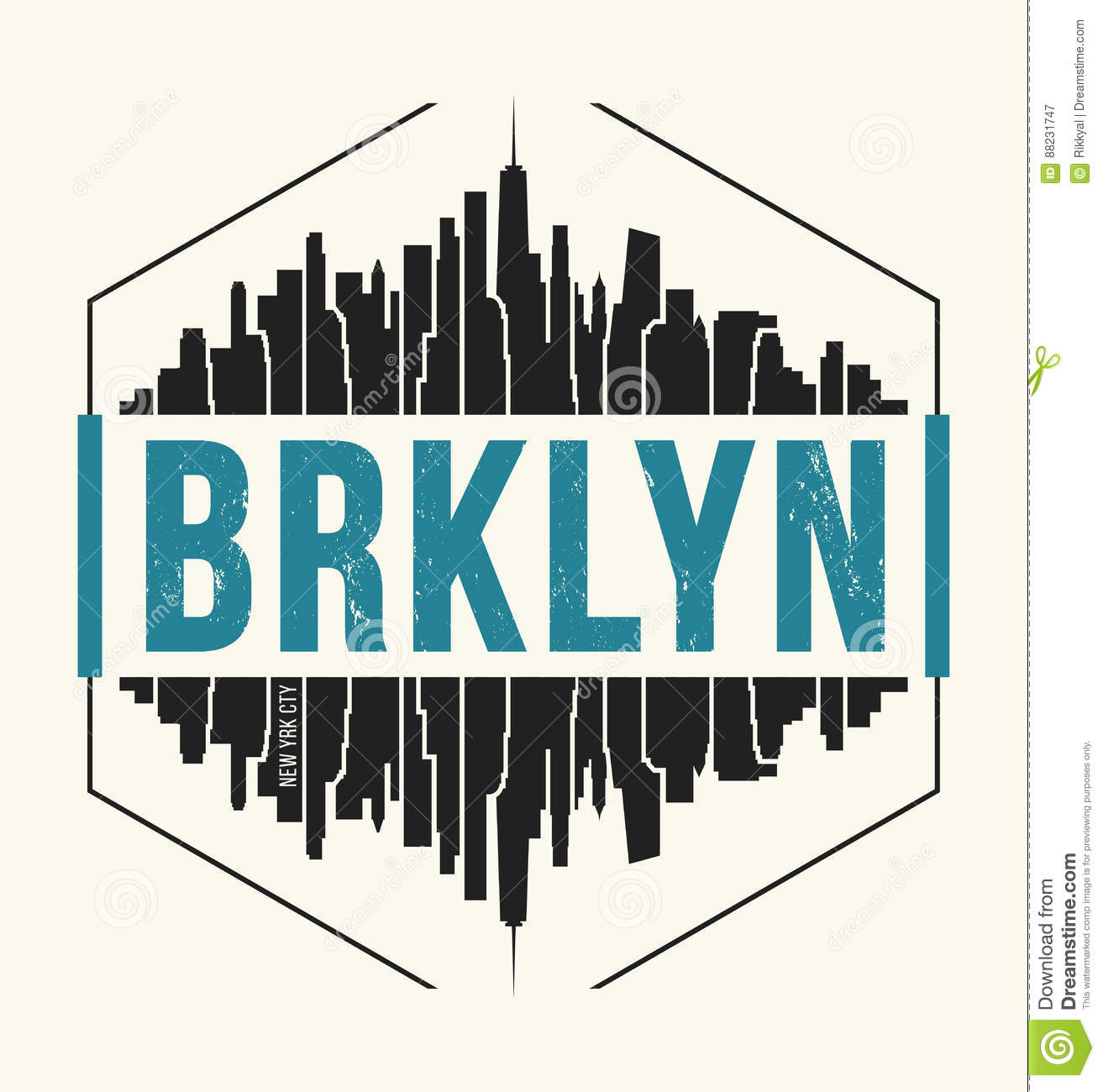 7d1b81e0 Brooklyn New York graphic, t-shirt design, tee print, typography, emblem.  Vector illustration.