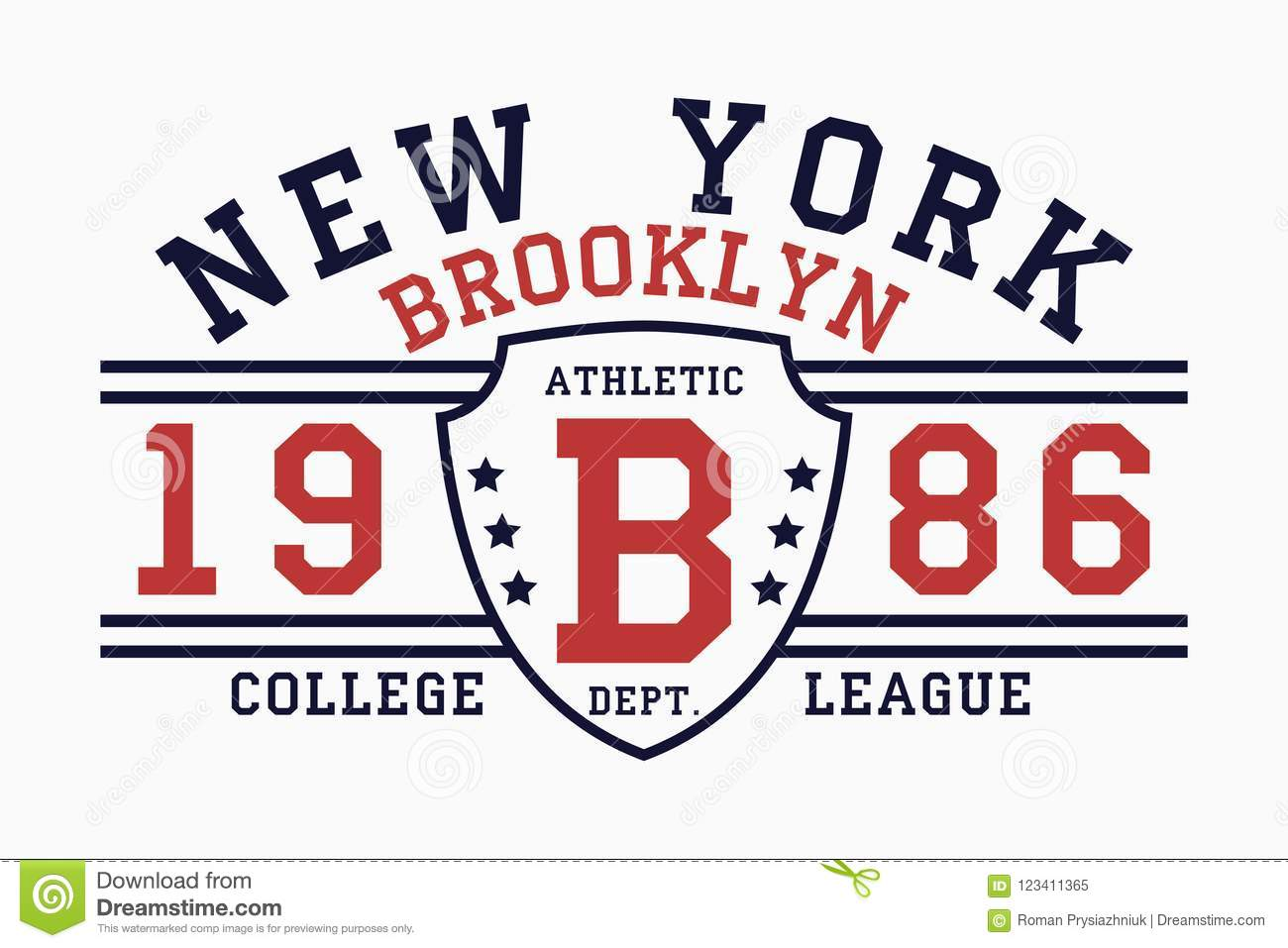 cabed2908 Brooklyn, New York slogan typography graphics for t-shirt. College print for  apparel. Vector.