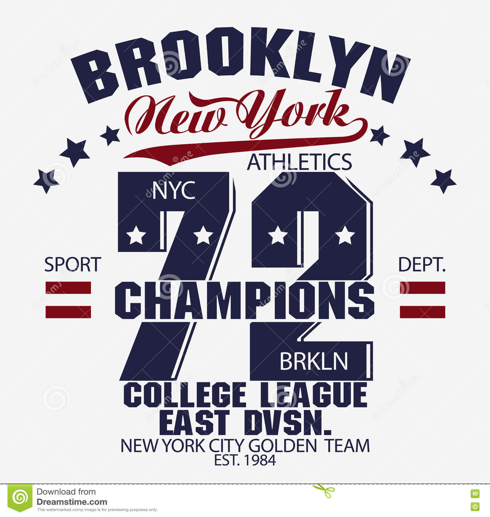 Brooklyn t-shirt graphics stock vector. Illustration of badge - 79073351 bb506726a