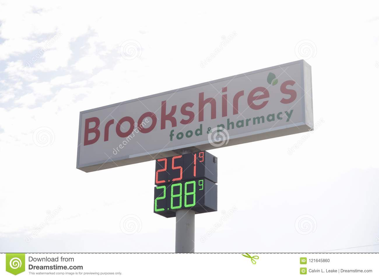 Brookshires Food And Pharmacy Fort Worth Texas Editorial Image