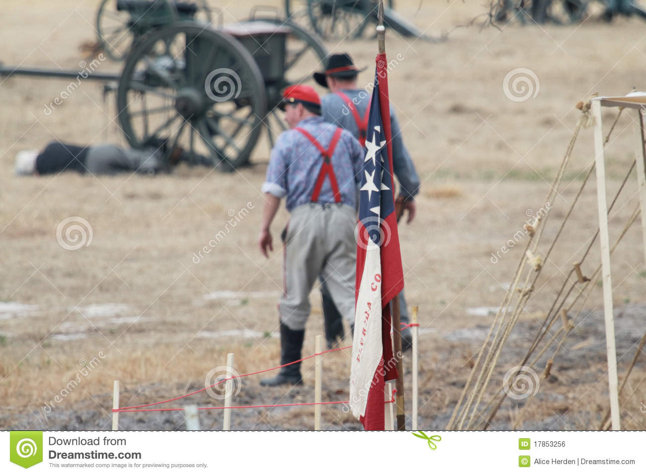 Photo of soldiers during the 31st Annual Brooksville Raid Re-enactment