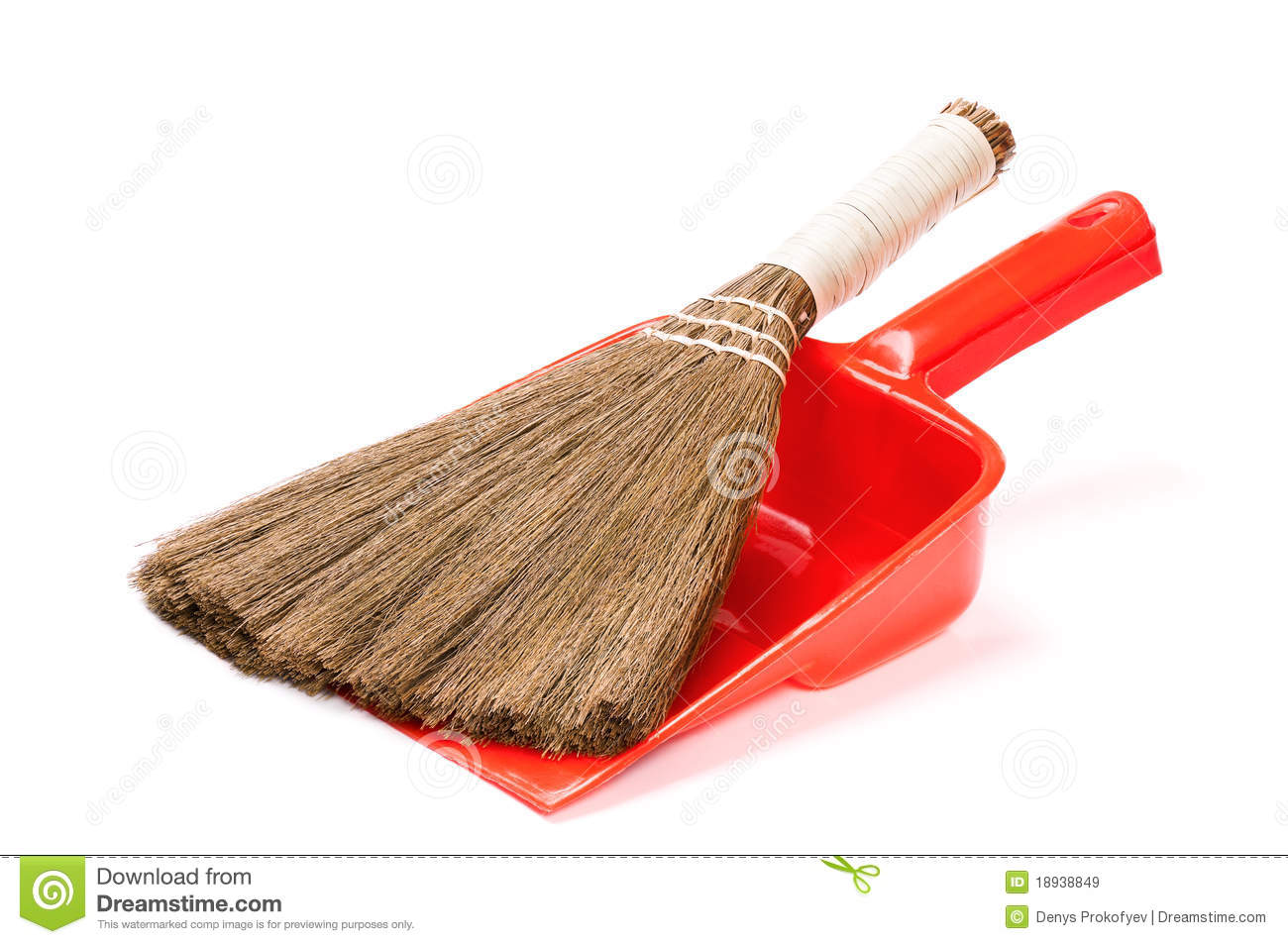 Broom And Dustpan Stock Image Image Of Clipping Dust
