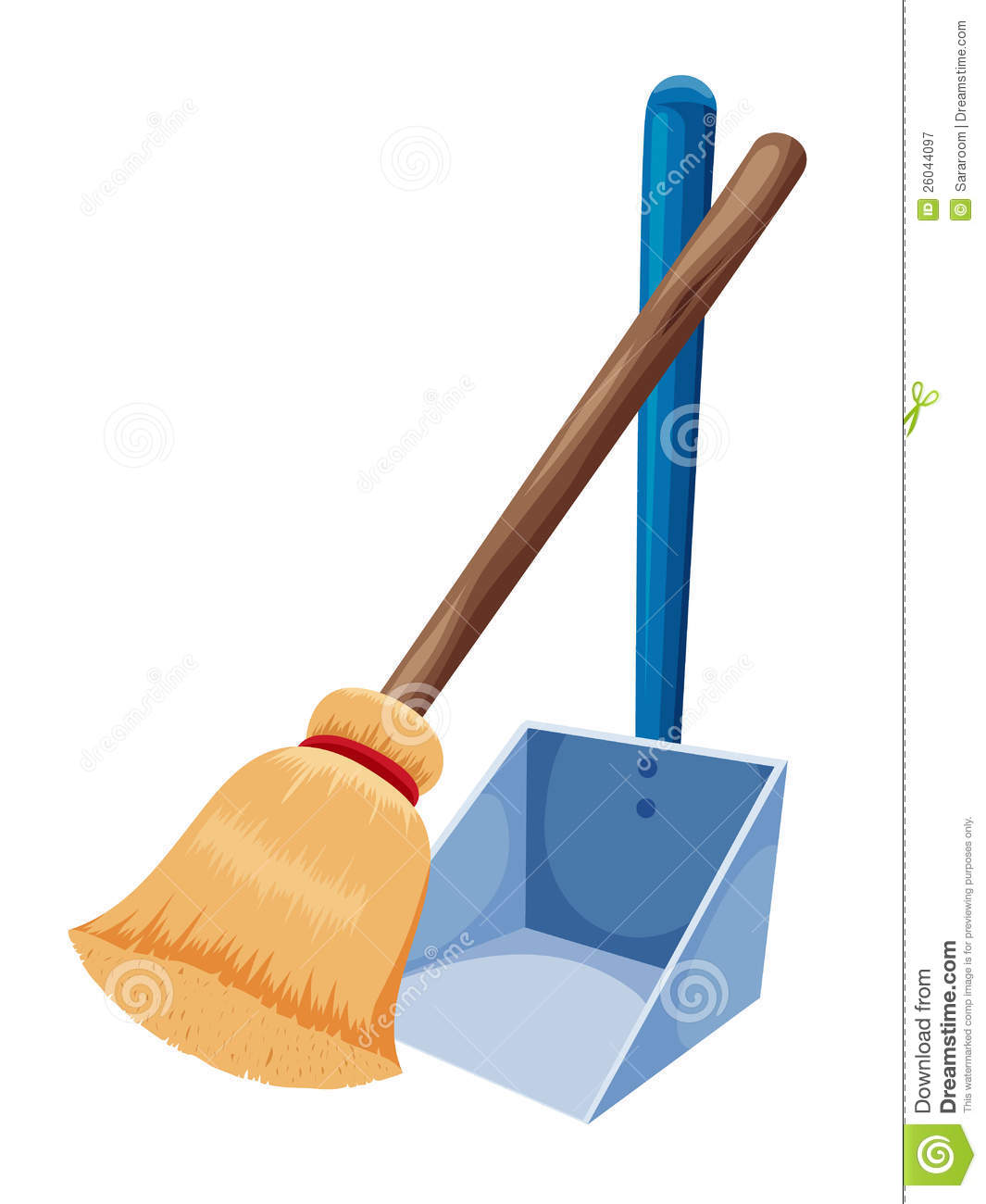 Broom and dustpan royalty free stock photography image 26044097