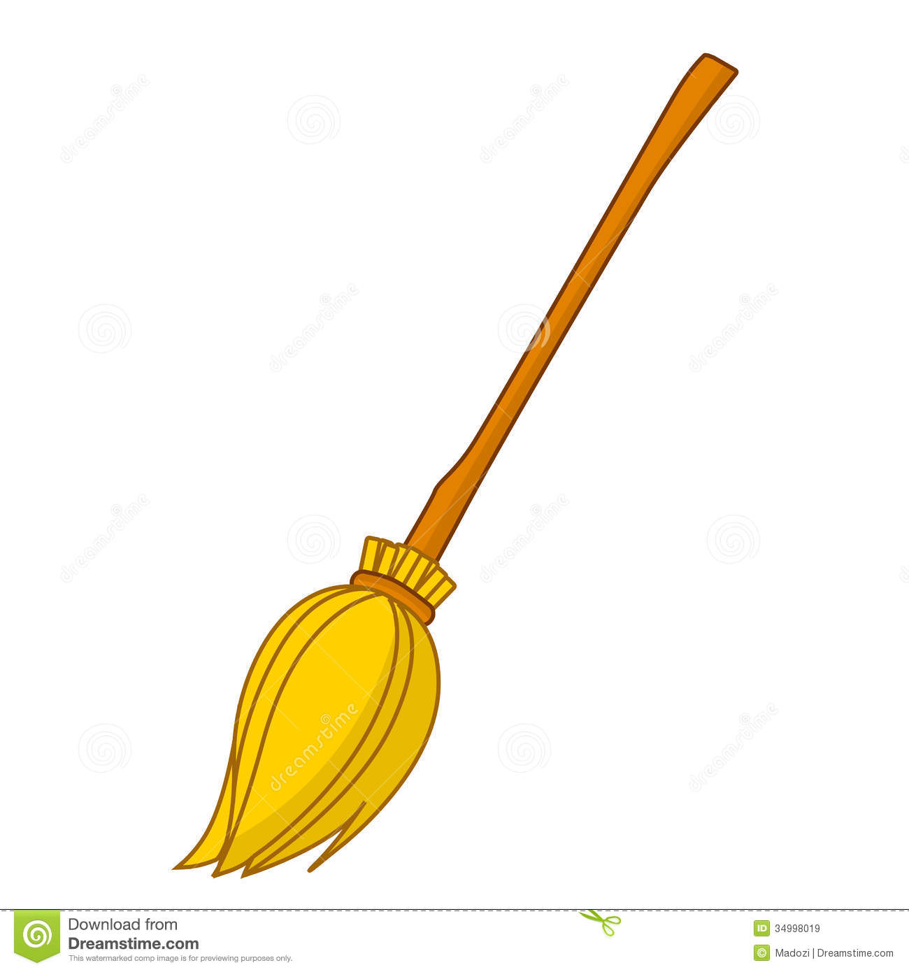 broom isolated illustration royalty free stock images