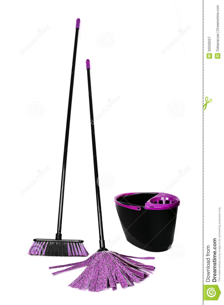 Broom Mop And Bucket Stock Image Image Of Brush Dirty