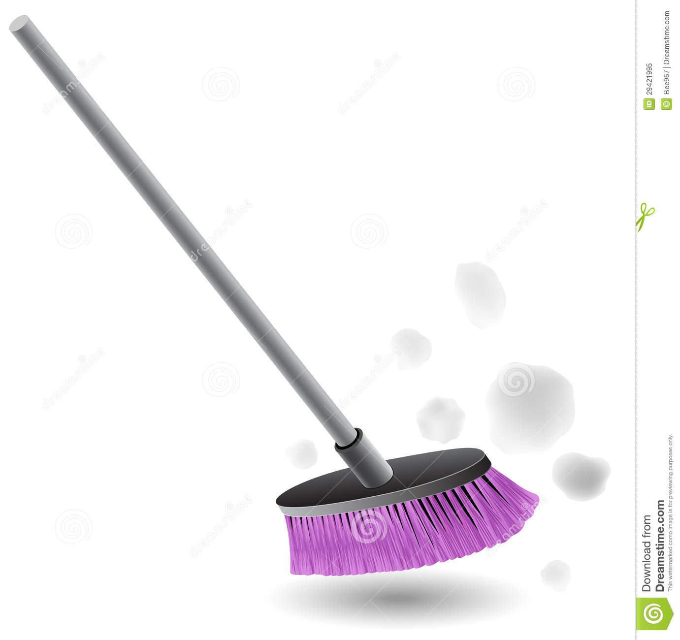 Broom Sweeping Dust Royalty Free Stock Photo Image 29421995