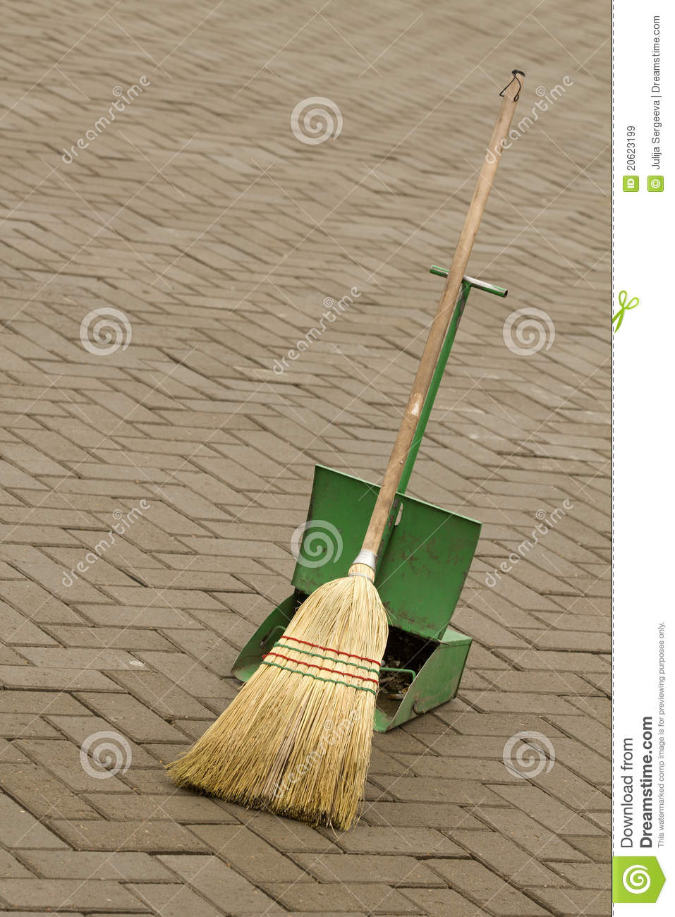 Broom Tool Cleaning Equipment Stock Image Image Of