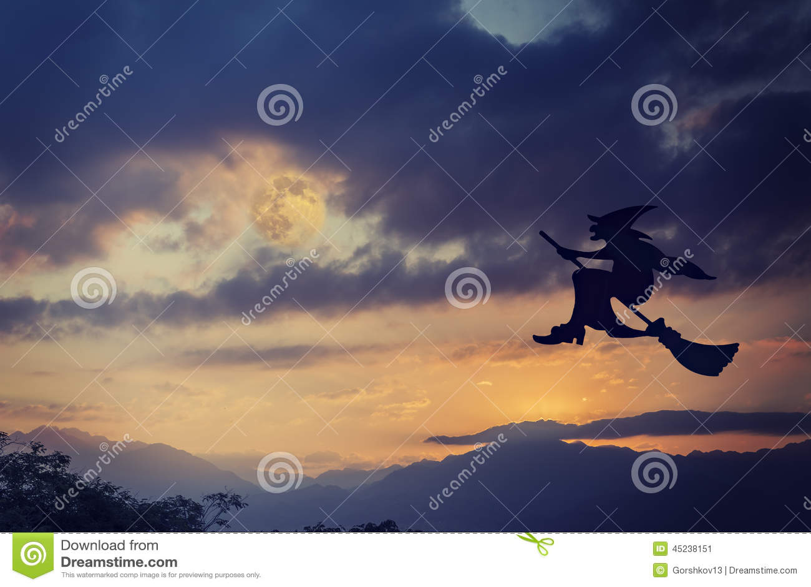 Broomstick target2053_1_ Halloween czarownicy