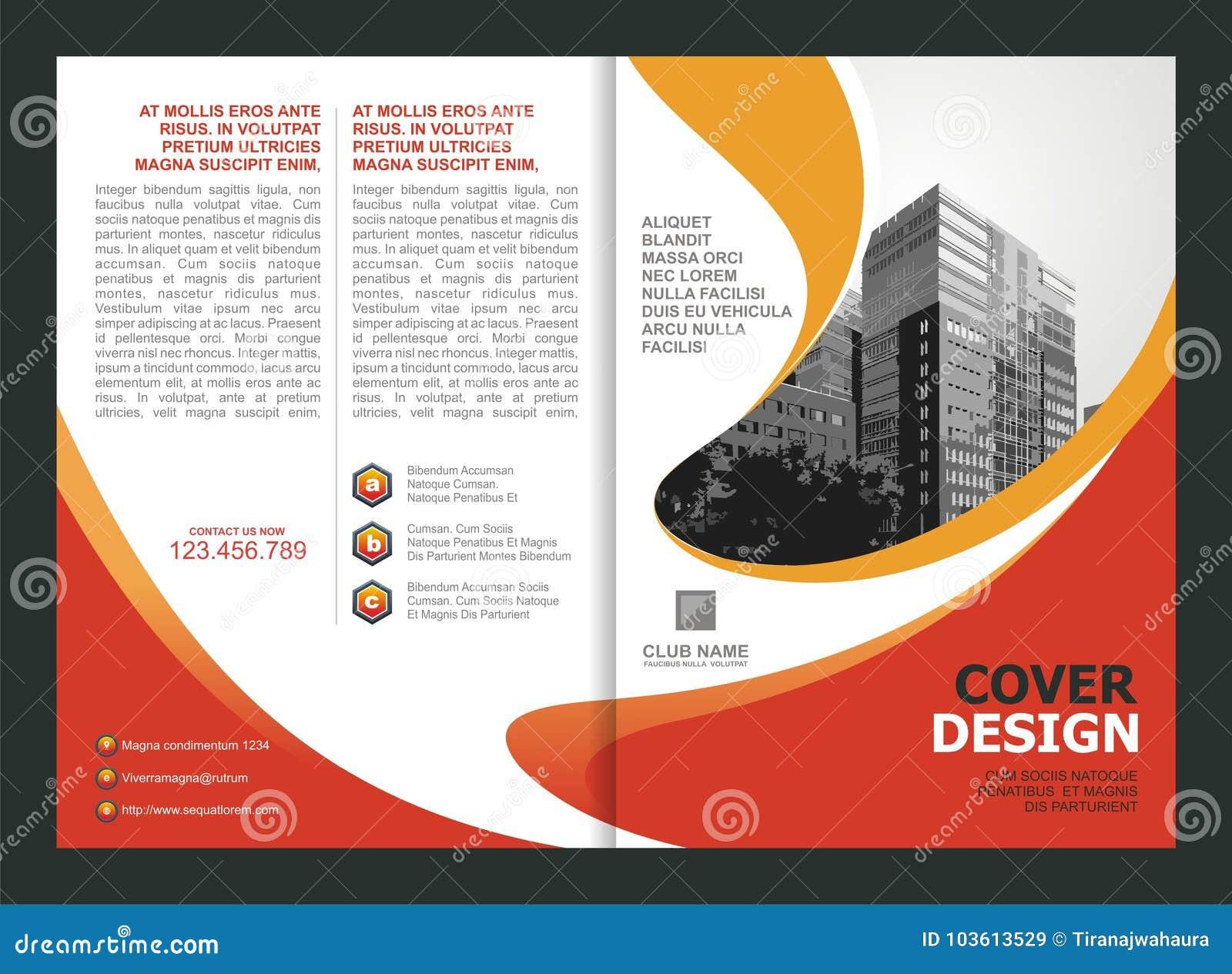 Broschüre, Flieger, Schablonen-Design mit orange und gelber Farbe