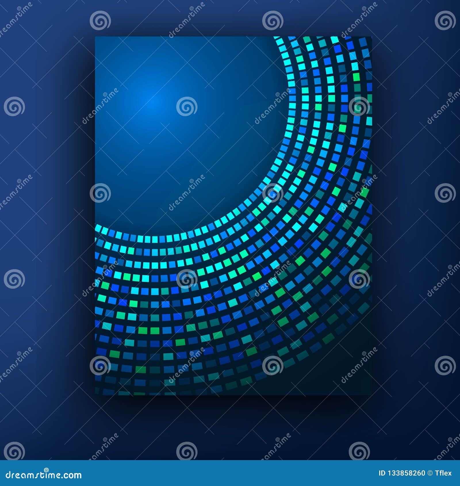 Broschürengeschäftsdesignschablone oder -fahne Abstrakter vektorhintergrund