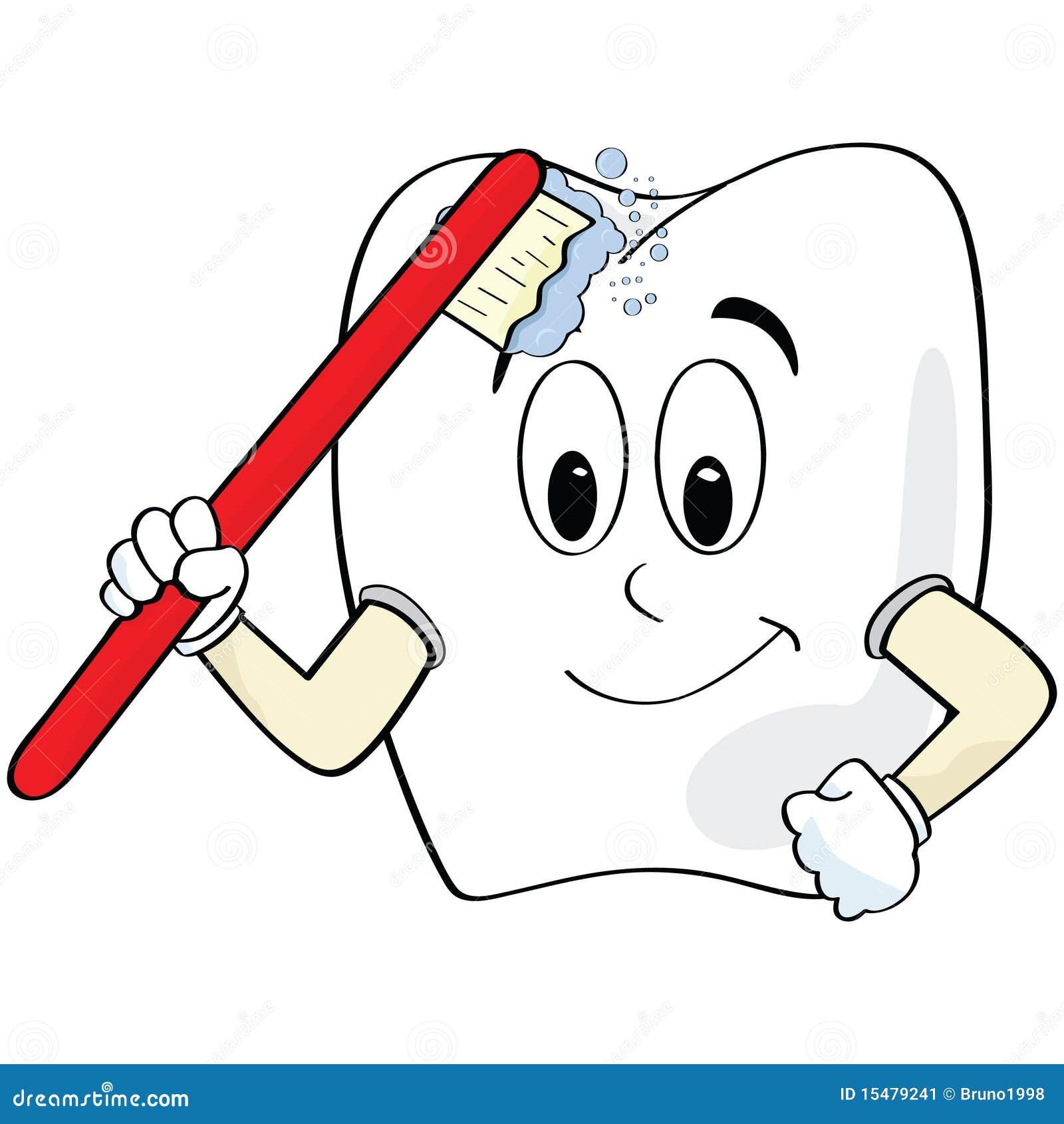 Brossage de dent illustration de vecteur illustration du - Dessin de dent ...