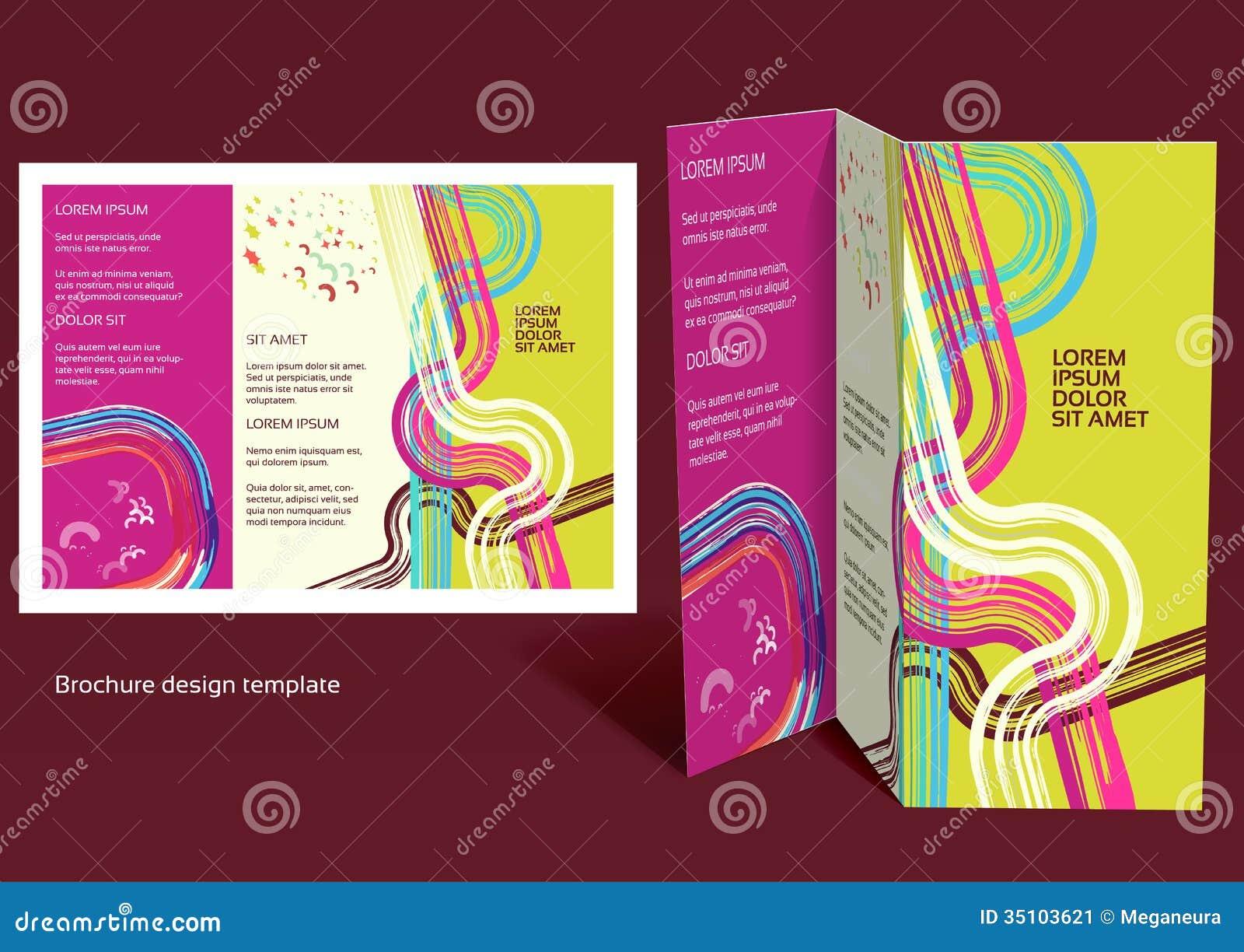 Broszurka, broszura fałdu układ. Editable projekta szablon.