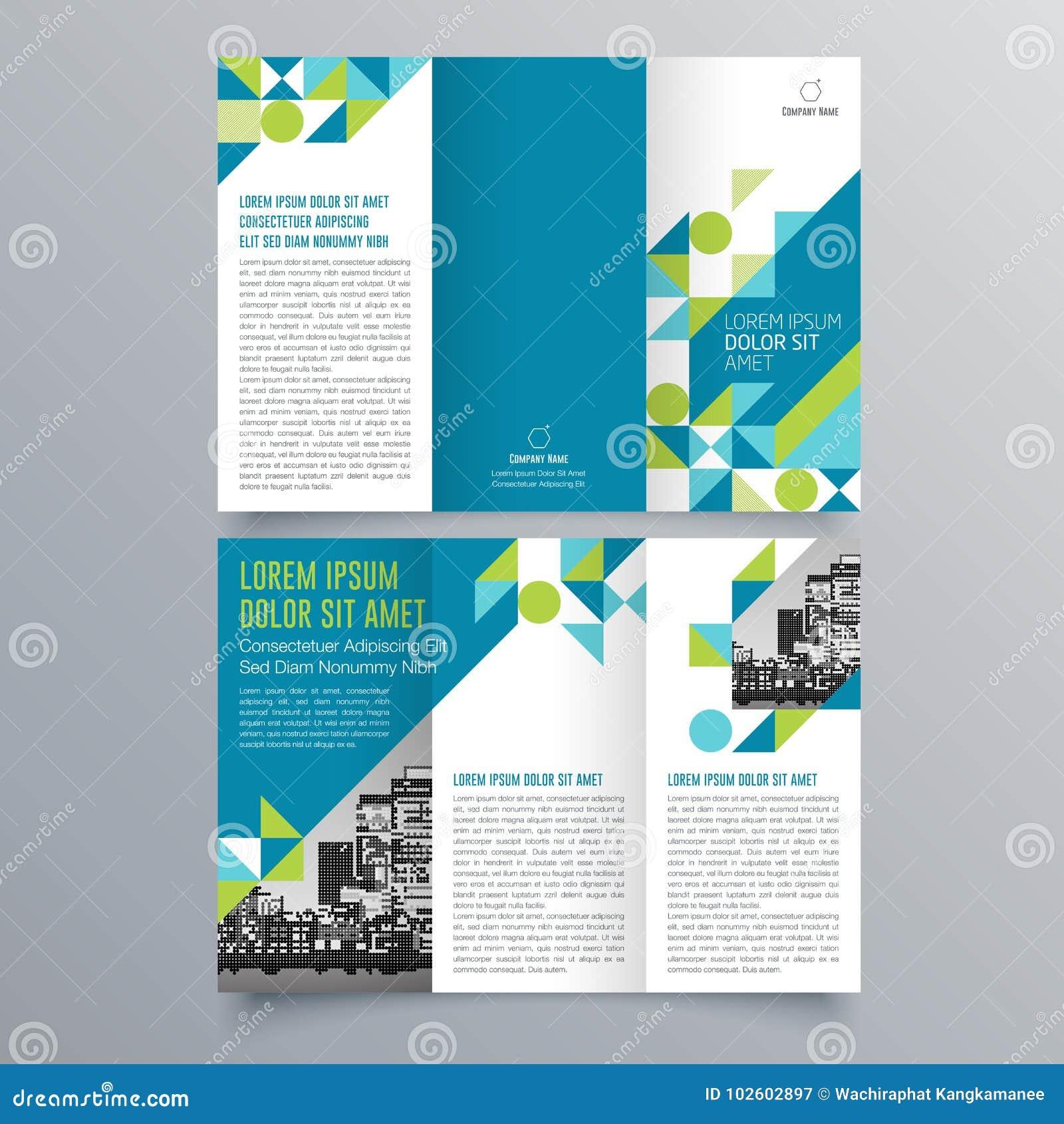 Broszurka projekt, broszurka szablon