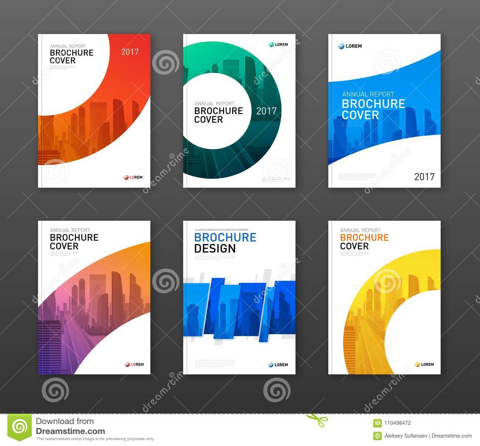 Broszurka projekta okładkowy układ ustawiający dla biznesu
