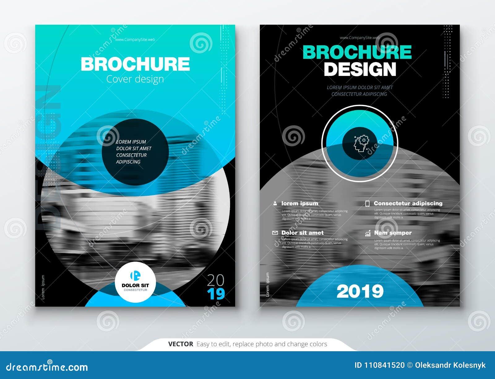 Broszurka szablonu układ, okładkowy projekta sprawozdanie roczne, magazyn, ulotka lub broszura w A4 z koloru okręgiem, kształtuje