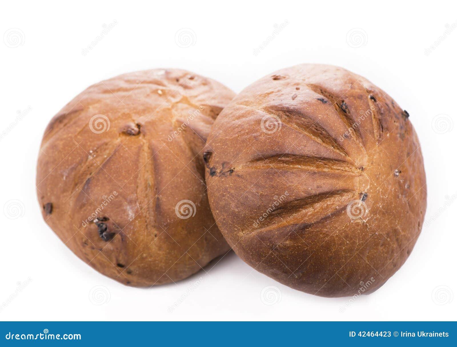 Brot auf einem weißen Hintergrund