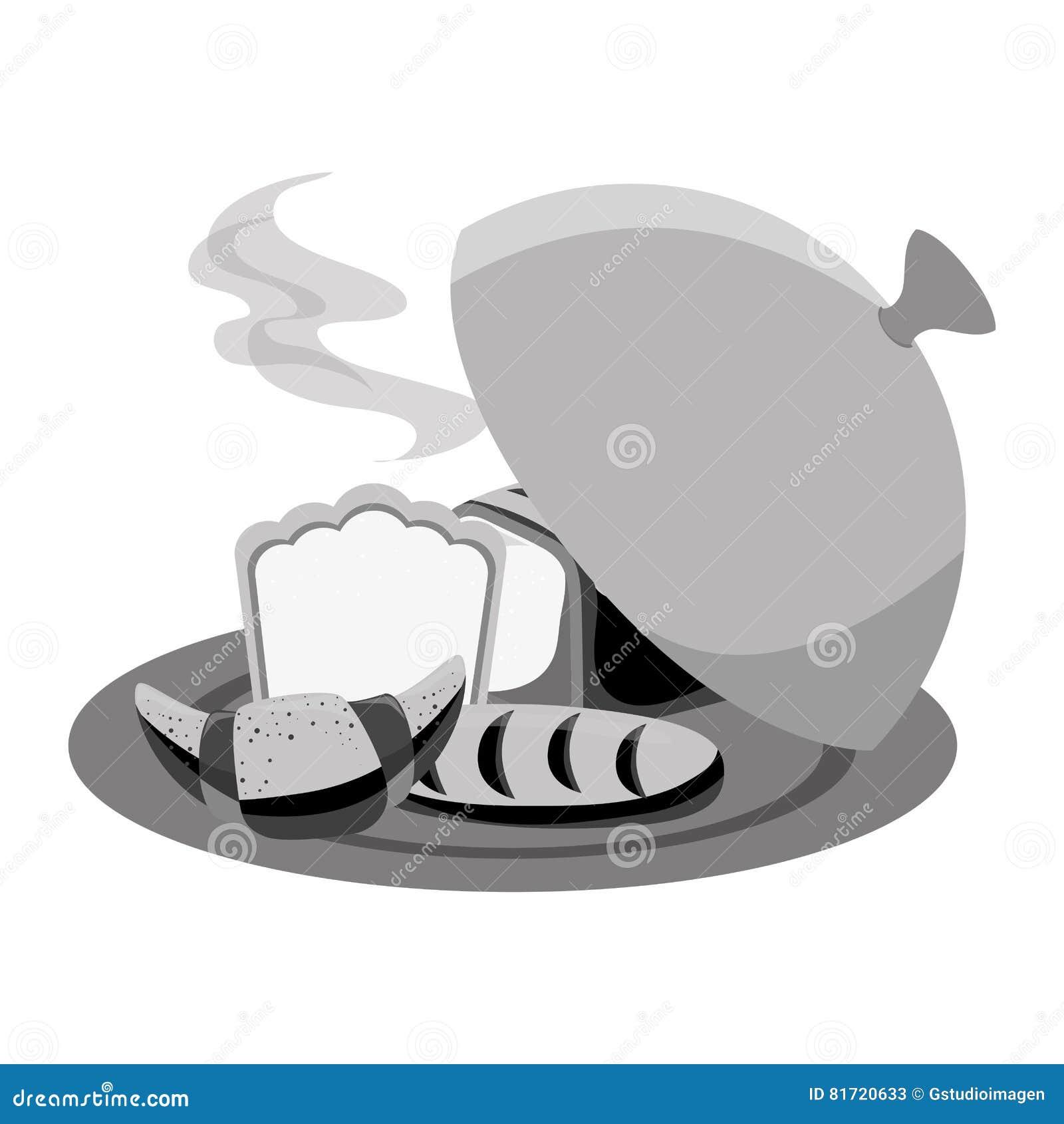 Brot in der Behältermenüikone