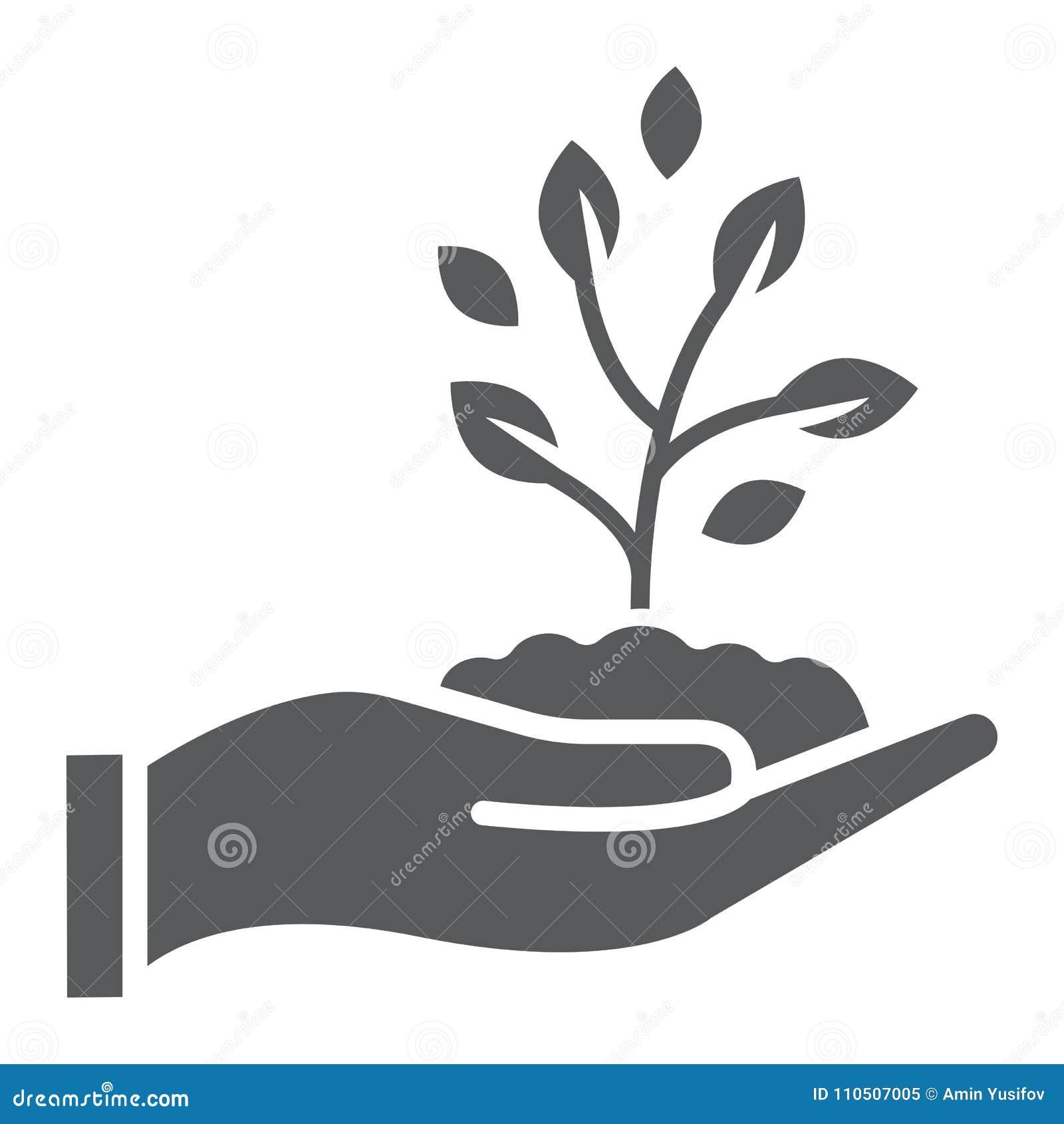 Brote el icono, el cultivo y la agricultura disponibles del glyph