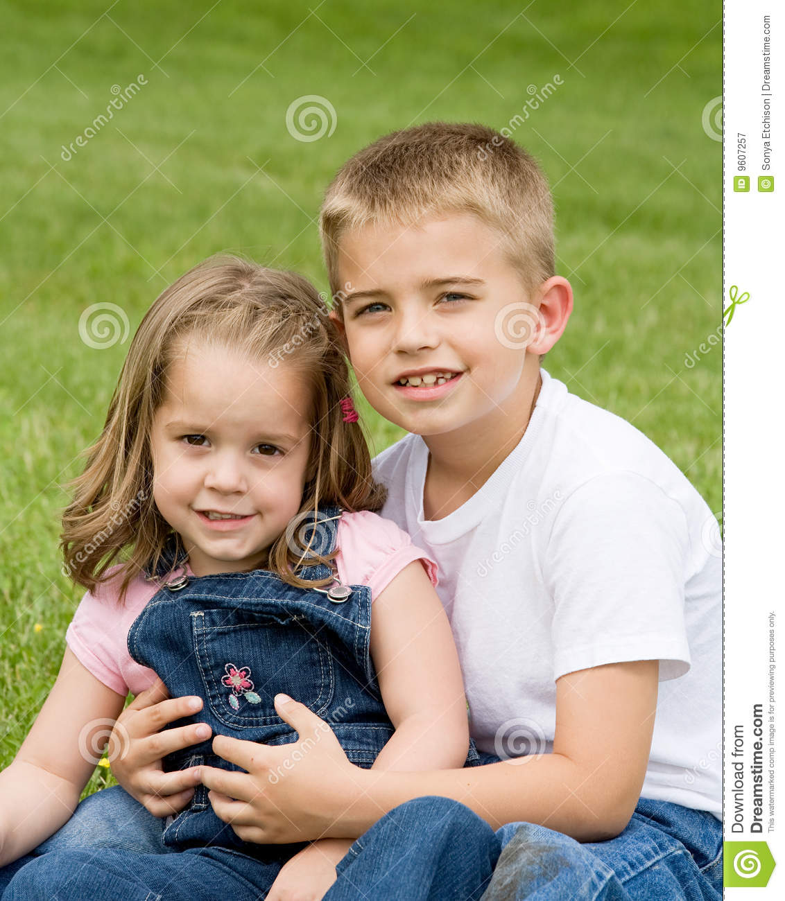 Picture For Brother Sister: Brother Sister Stock Image. Image Of Little, Outdoors