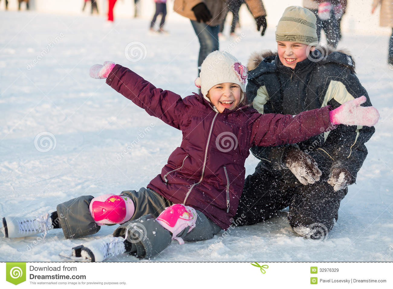 Brother and sister fell while skating and playing