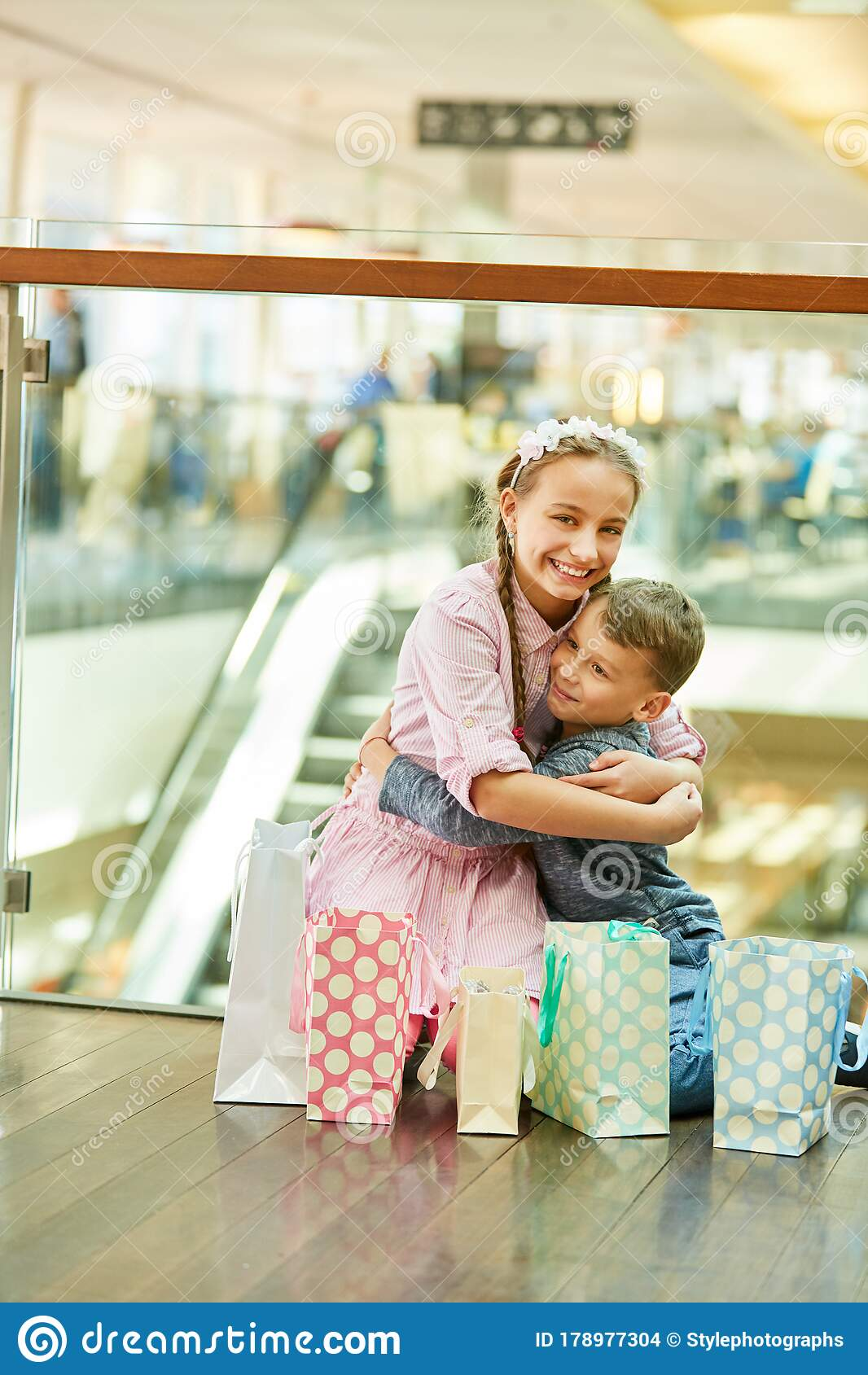 Brother And Sister Hug Each Other Royalty Free Stock