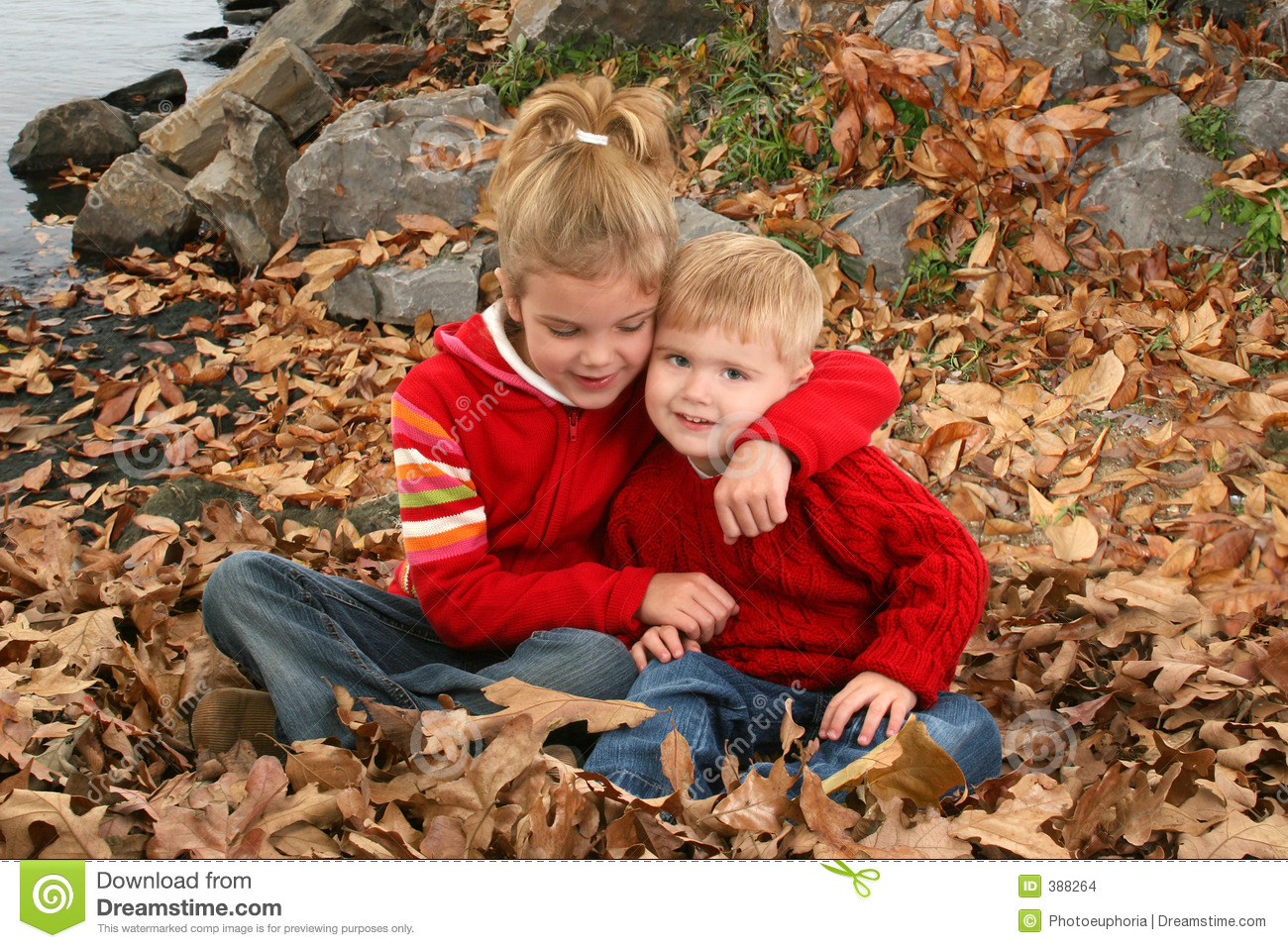 Brother And Sister Hugging At The Park Stock Images - Image 388264-5752