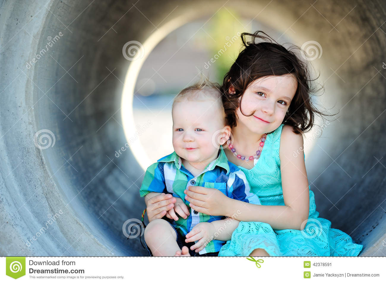 Brother And Sister Love Stock Image Image Of Goofy Girl 42378591