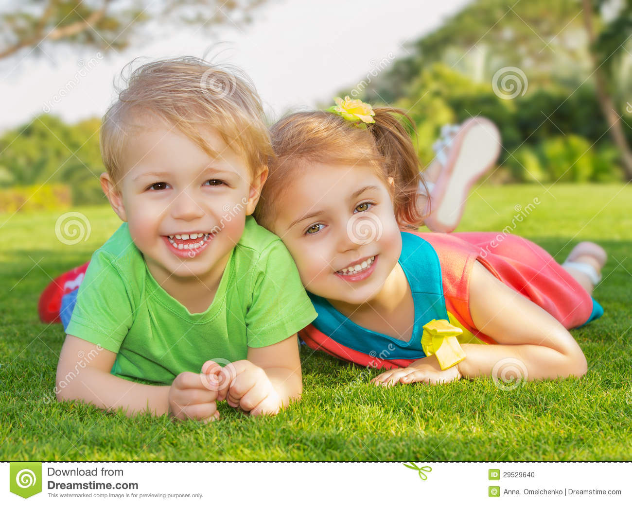Brother And Sister In The Park Stock Photo Image 29529640