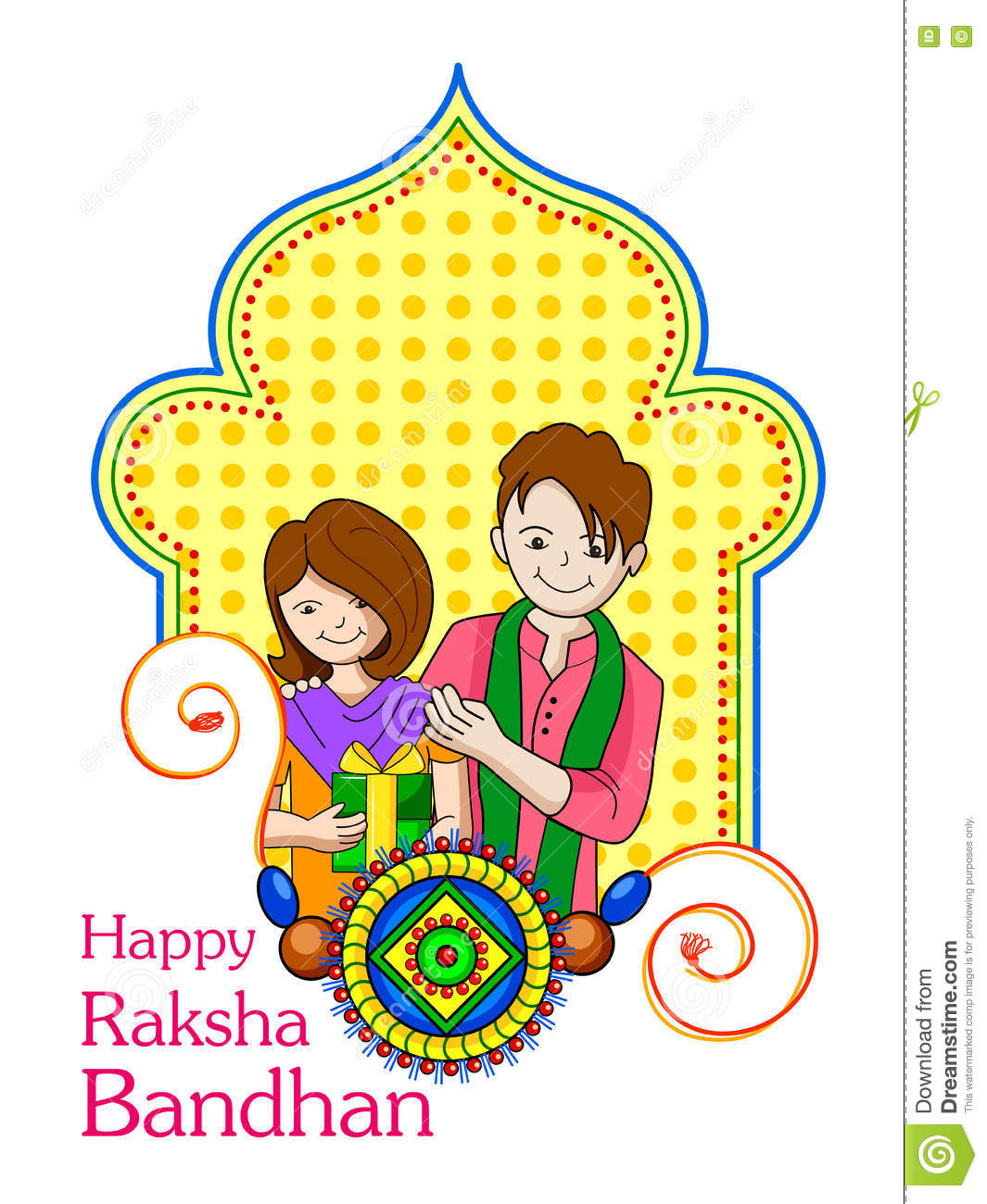 Brother sister in Raksha Bandhan