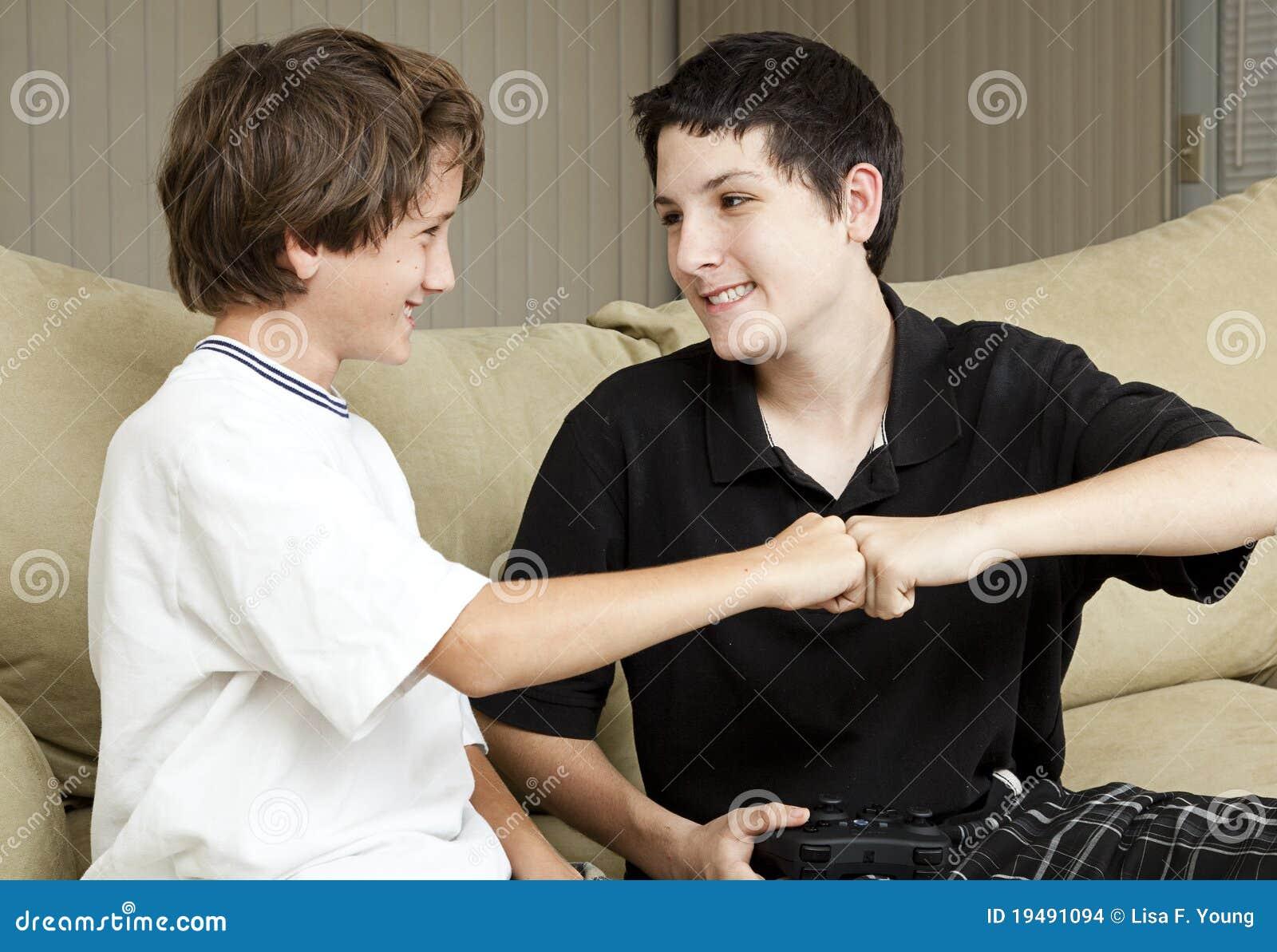 Brothers Fist Bump