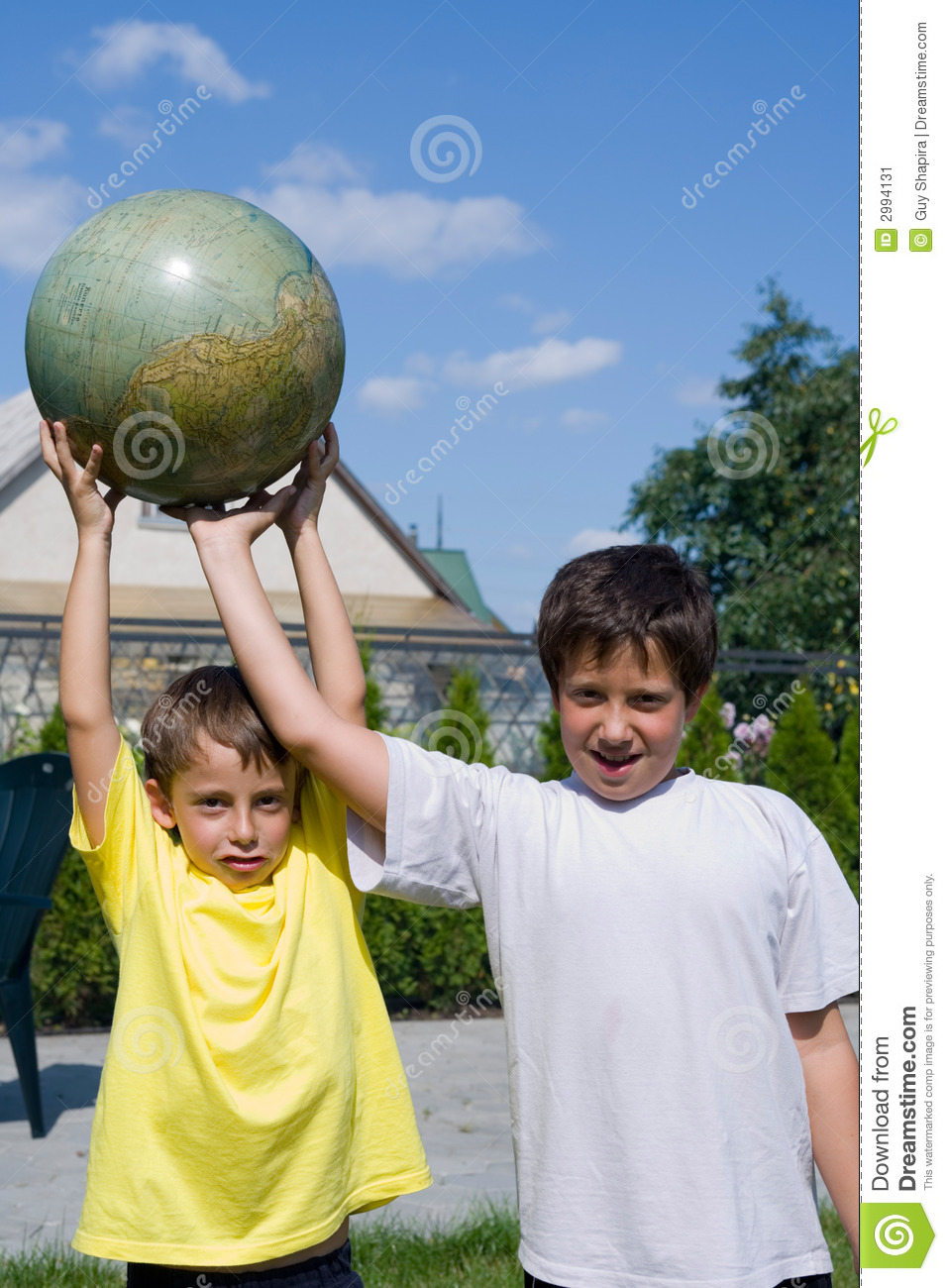 Brothers and globe
