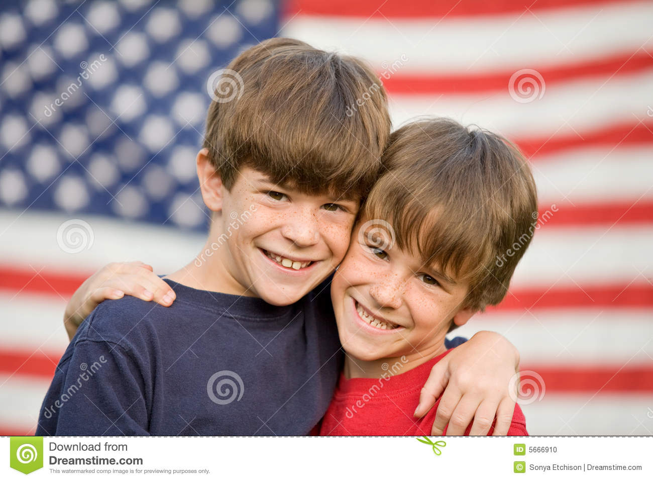 brothers hugging stock photo  image of freckles  background