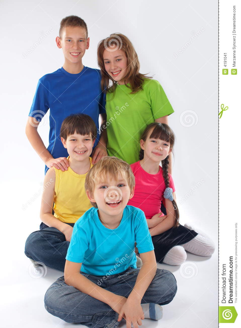 Brothers and sisters stock image  Image of caucasian, happy