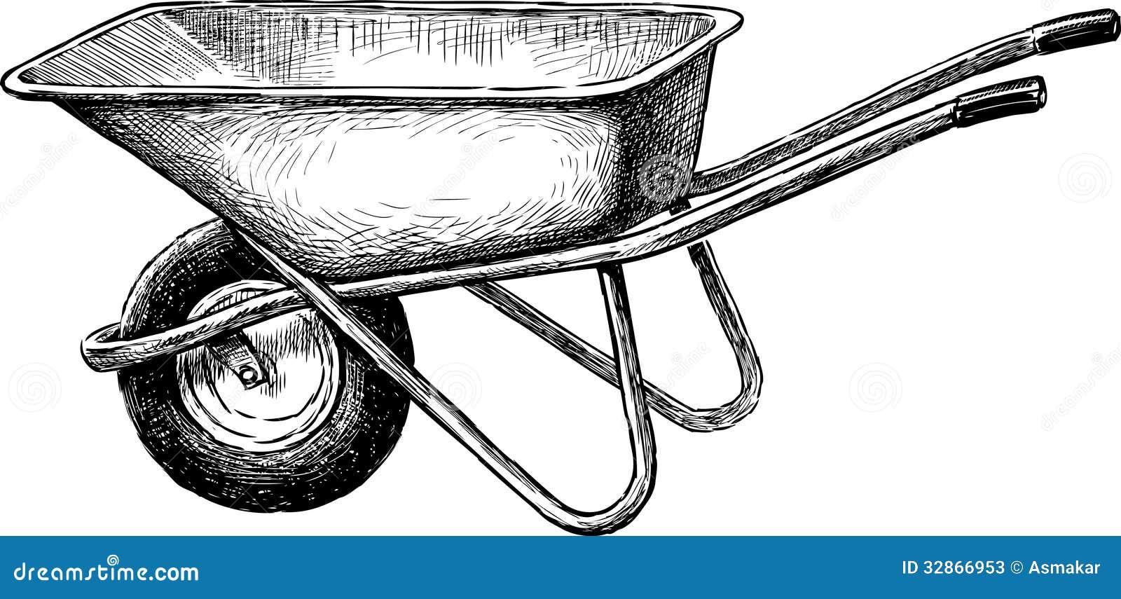 brouette illustration de vecteur illustration du fonctionnement 32866953. Black Bedroom Furniture Sets. Home Design Ideas