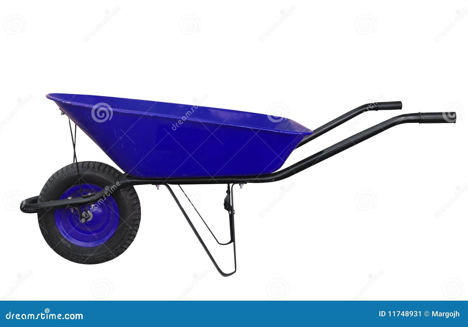 Brouette de jardin Bleue
