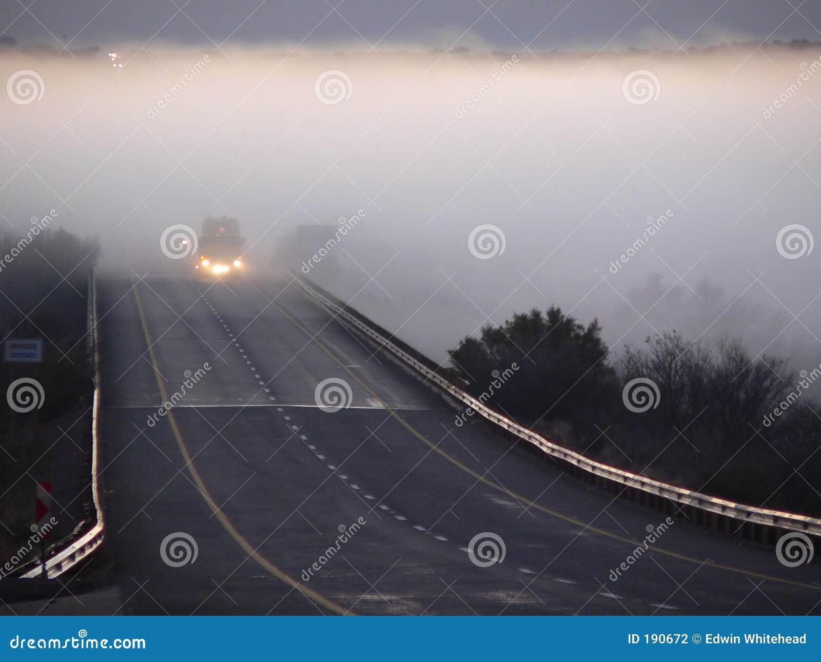 Brouillard de bord de la route